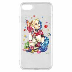 Чехол для iPhone 7 Bright Harley Quinn Vector