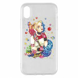 Чехол для iPhone X/Xs Bright Harley Quinn Vector