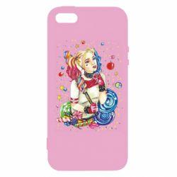 Чехол для iPhone5/5S/SE Bright Harley Quinn Vector