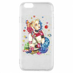 Чехол для iPhone 6/6S Bright Harley Quinn Vector