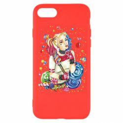 Чехол для iPhone 8 Bright Harley Quinn Vector