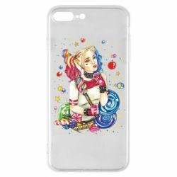 Чехол для iPhone 8 Plus Bright Harley Quinn Vector