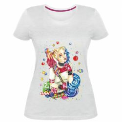 Женская стрейчевая футболка Bright Harley Quinn Vector