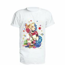 Удлиненная футболка Bright Harley Quinn Vector