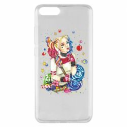 Чехол для Xiaomi Mi Note 3 Bright Harley Quinn Vector
