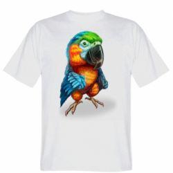 Чоловіча футболка Bright parrot art
