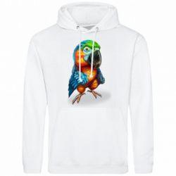 Чоловіча толстовка Bright parrot art