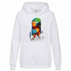 Толстовка жіноча Bright parrot art