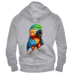 Чоловіча толстовка на блискавці Bright parrot art