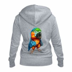 Жіноча толстовка на блискавці Bright parrot art