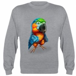 Реглан (світшот) Bright parrot art