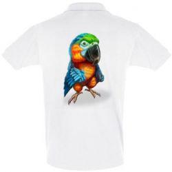 Футболка Поло Bright parrot art