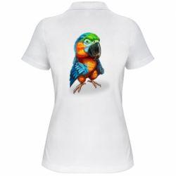 Жіноча футболка поло Bright parrot art