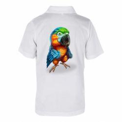 Дитяча футболка поло Bright parrot art
