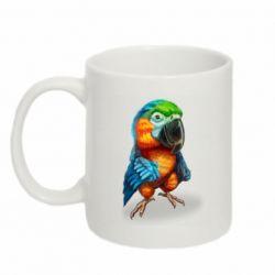 Кружка 320ml Bright parrot art