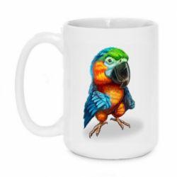 Кружка 420ml Bright parrot art