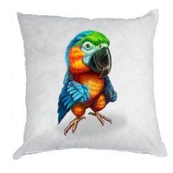 Подушка Bright parrot art