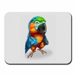 Килимок для миші Bright parrot art