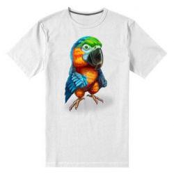 Чоловіча стрейчева футболка Bright parrot art