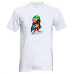 Чоловіча спортивна футболка Bright parrot art