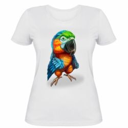 Жіноча футболка Bright parrot art