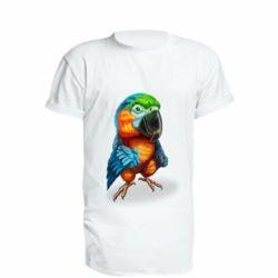 Подовжена футболка Bright parrot art