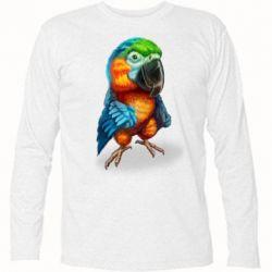 Футболка з довгим рукавом Bright parrot art