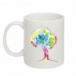Кружка 320ml Bright watercolor tree