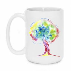 Кружка 420ml Bright watercolor tree