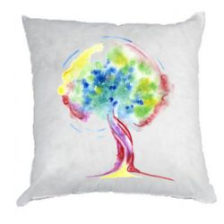 Подушка Bright watercolor tree