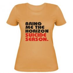 Женская футболка Bring me the horizon suicide season.