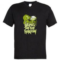 Мужская футболка  с V-образным вырезом Bring me the horizon - FatLine
