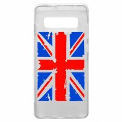 Чехол для Samsung S10+ Британский флаг