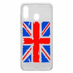Чехол для Samsung A20 Британский флаг