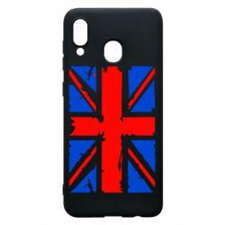 Чехол для Samsung A30 Британский флаг