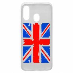 Чехол для Samsung A40 Британский флаг
