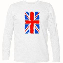 Футболка с длинным рукавом Британский флаг - FatLine