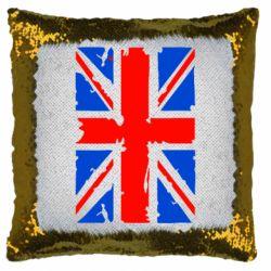 Подушка-хамелеон Британский флаг