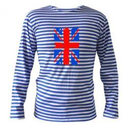 Тельняшка с длинным рукавом Британский флаг - FatLine