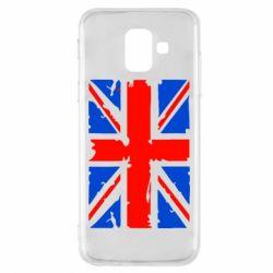 Купить Страны, Чехол для Samsung A6 2018 Британский флаг, FatLine