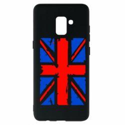 Чехол для Samsung A8+ 2018 Британский флаг