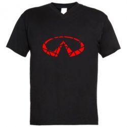 Чоловіча футболка з V-подібним вирізом Broken logo