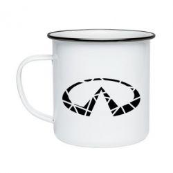 Кружка емальована Broken logo