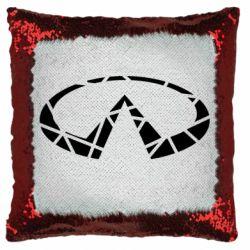 Подушка-хамелеон Broken logo