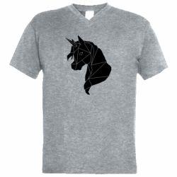 Чоловіча футболка з V-подібним вирізом Broken unicorn 1