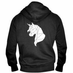 Чоловіча толстовка на блискавці Broken unicorn 1