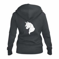 Жіноча толстовка на блискавці Broken unicorn 1