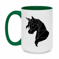 Кружка двоколірна 420ml Broken unicorn 1