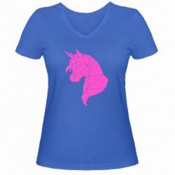 Жіноча футболка з V-подібним вирізом Broken unicorn 1