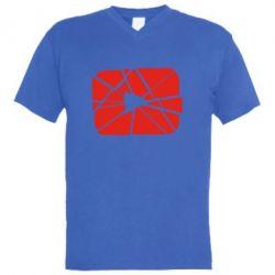 Чоловіча футболка з V-подібним вирізом Broken
